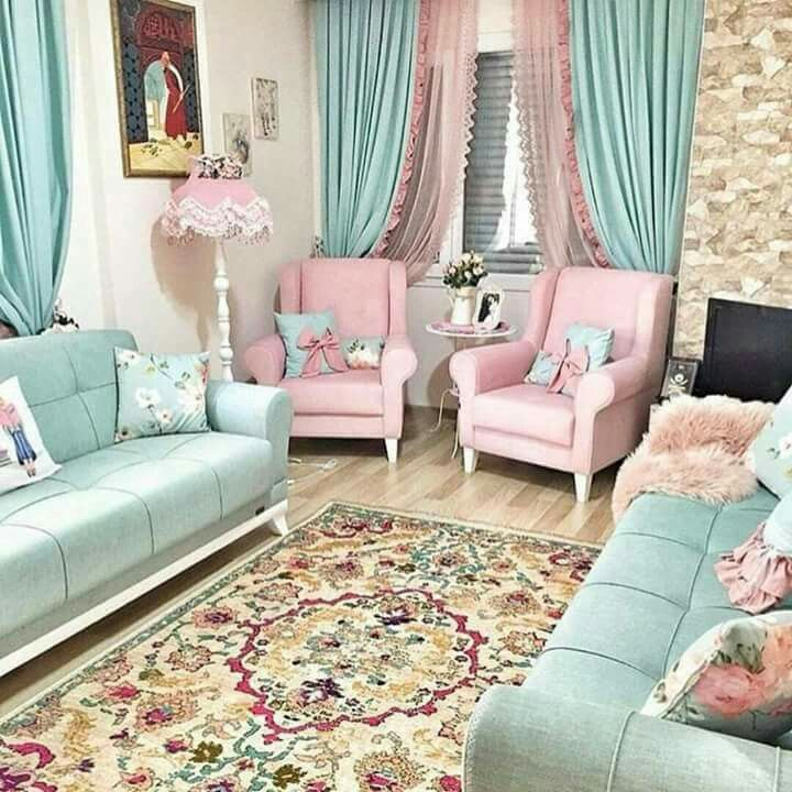 Best Pink And Robins Egg Blue Classic Furniture Living Room 400 x 300