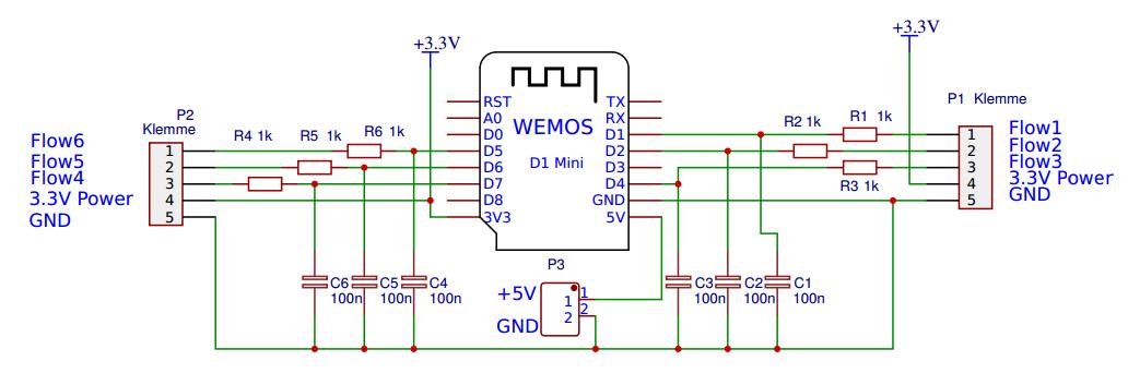 WLAN Impulszähler für flow Sensor oder Stromzähler mit D1 mini WeMos ...