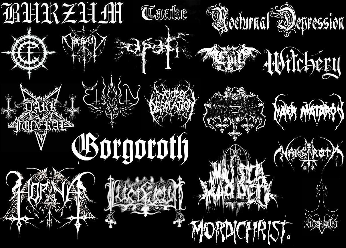 Black Metal Tyography Typography Pinterest Black