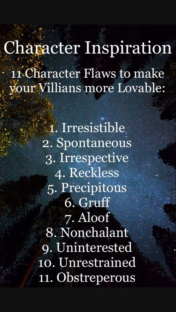 Make your villians loveable with these controversial traits.