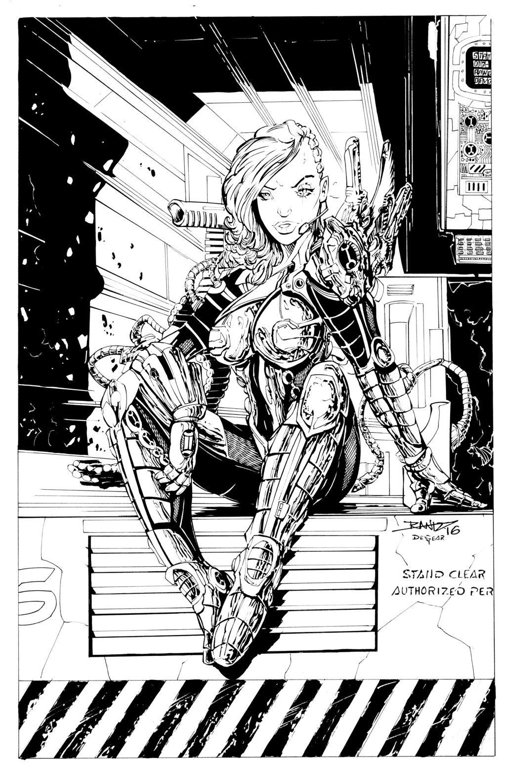 Sci Fi Girl Inks By Devgear On Deviantart With Images -3186