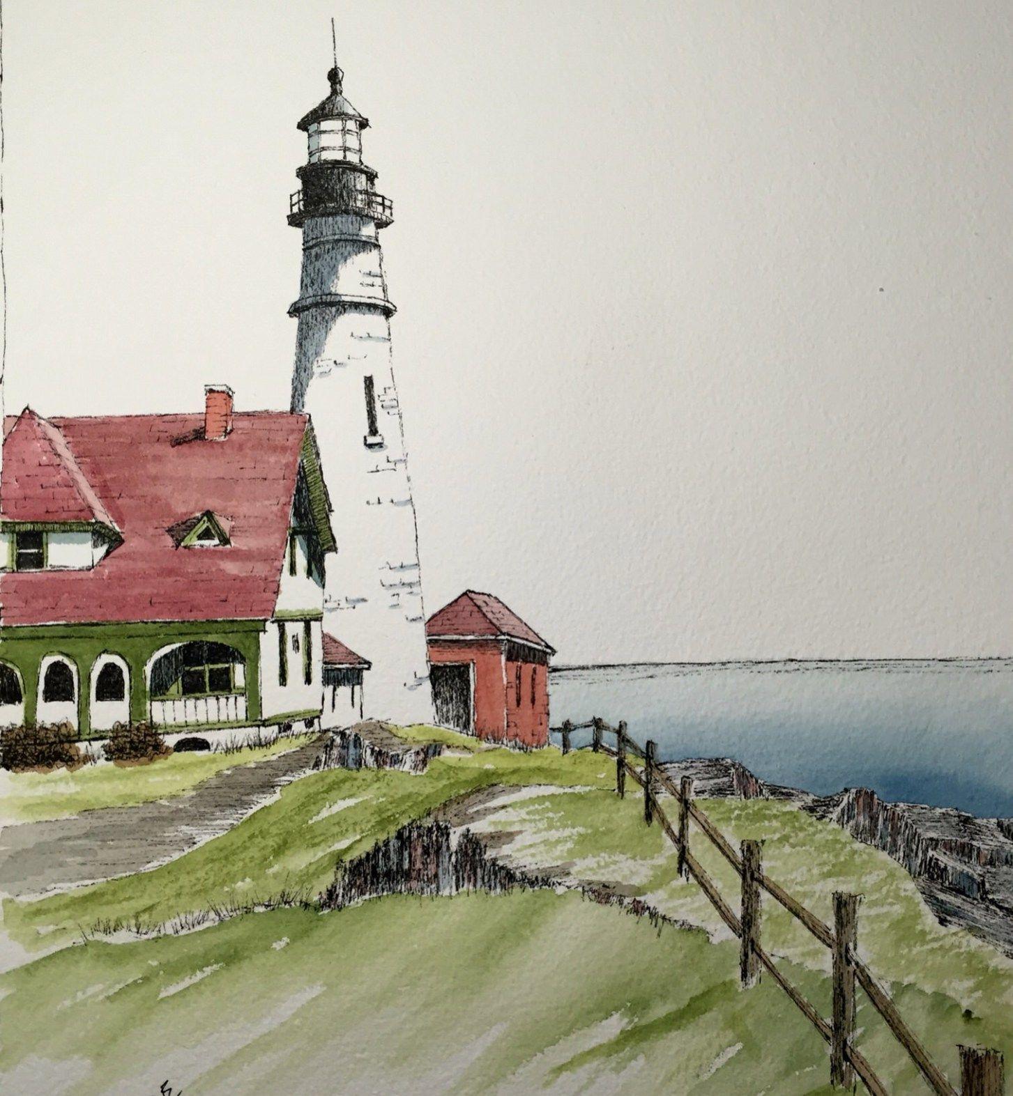 Frozen Lake Watercolor Painting Art