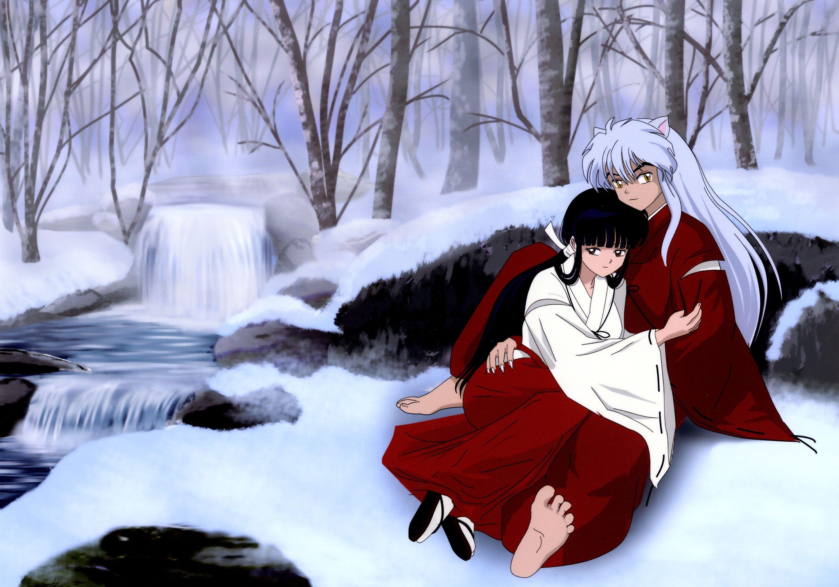 Intimate Kikyo Inuyasha Anime Full Hd Wallpaper Inuyasha And Kikyo Inuyasha Anime