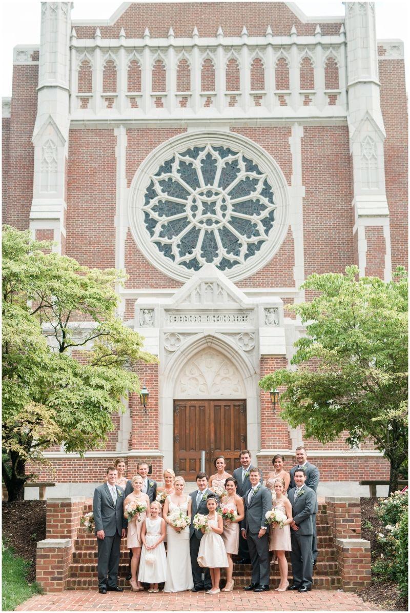 Wedding Party Blush Richmond Wedding At Cannon Memorial