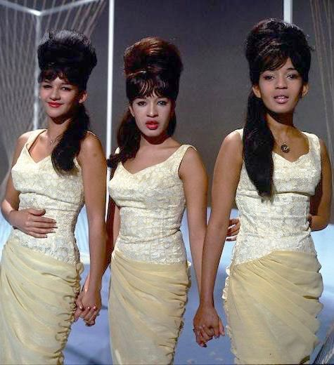 The Ronettes [Veronica (Ronnie) and Estelle Bennett, Nedra Talley] : best  known for their Phil Spector-produced