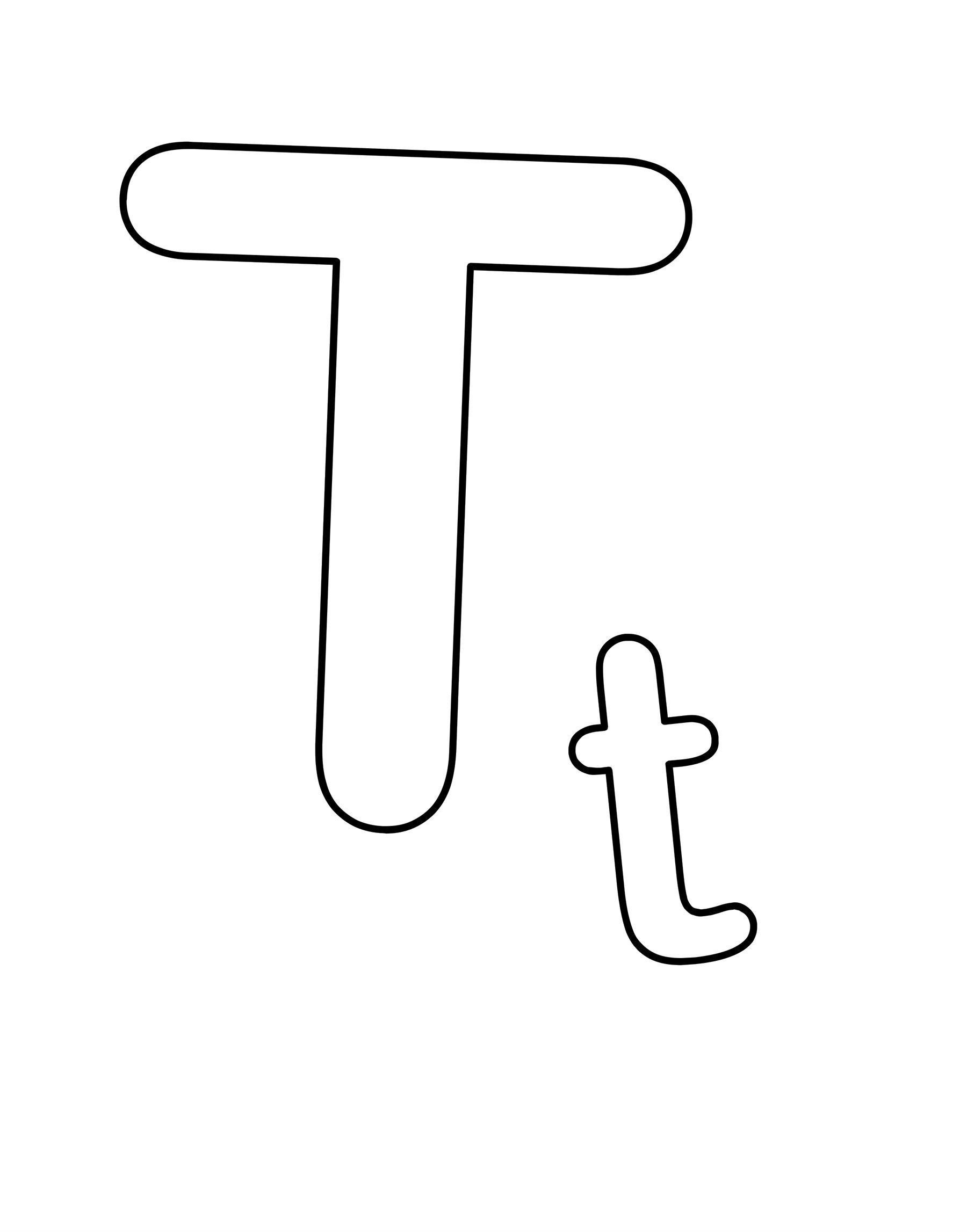 Trains Alphabet Letter T Large With Small T Coloring Pages For Kids Fcj Printable Trains Alphabet Coloring Pages For Kids