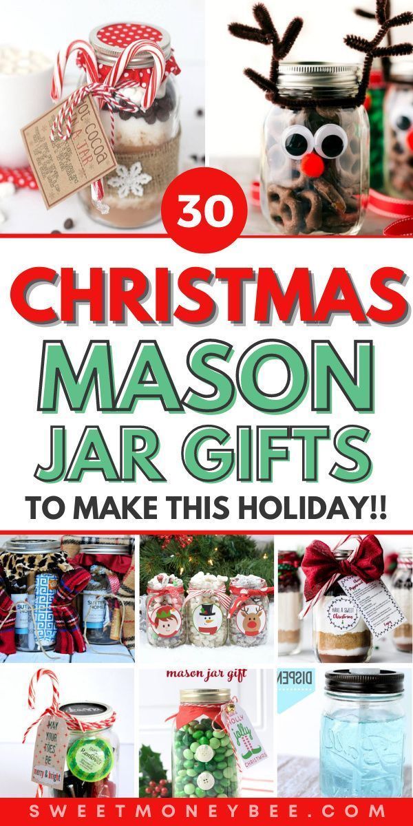 Easy DIY Christmas Mason Jar Gifts and Ideas