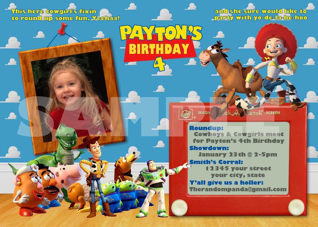 Toy Story Party Invitation Jessie Cowgirl Birthday | Kids birthday ...