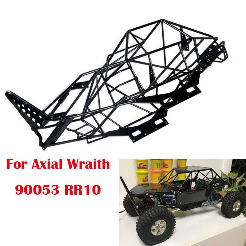 1 10 Scale Rc Axial Wraith Truck 90053 Metal Roll Cage Frame Body Chassis Black Roll Cage 1 10 Scale Axial