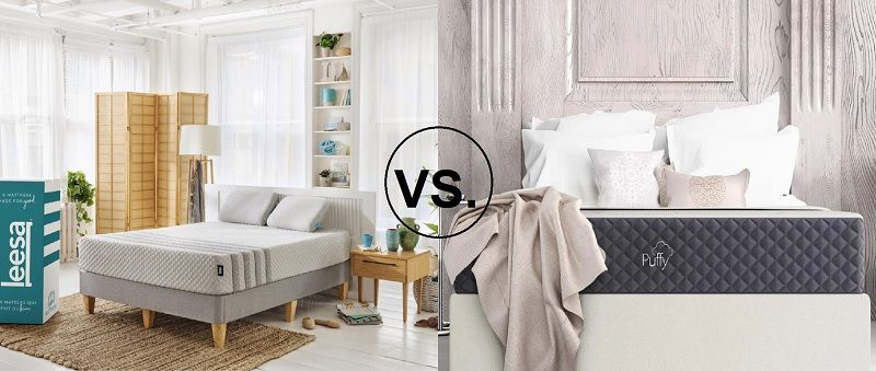 Leesa Hybrid Vs Puffy Lux Comparison Reviews Best Deals Best Mattress Cheap Memory Foam Mattress Old Mattress