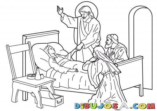 Dibujo De Jesus Resusitando A La Hija De Jairo Colorear Biblicos Dibujo Para Pintar A Jesus Resusita La Hija De Jairo Dibujos De Jesús Dibujos Para Pintar