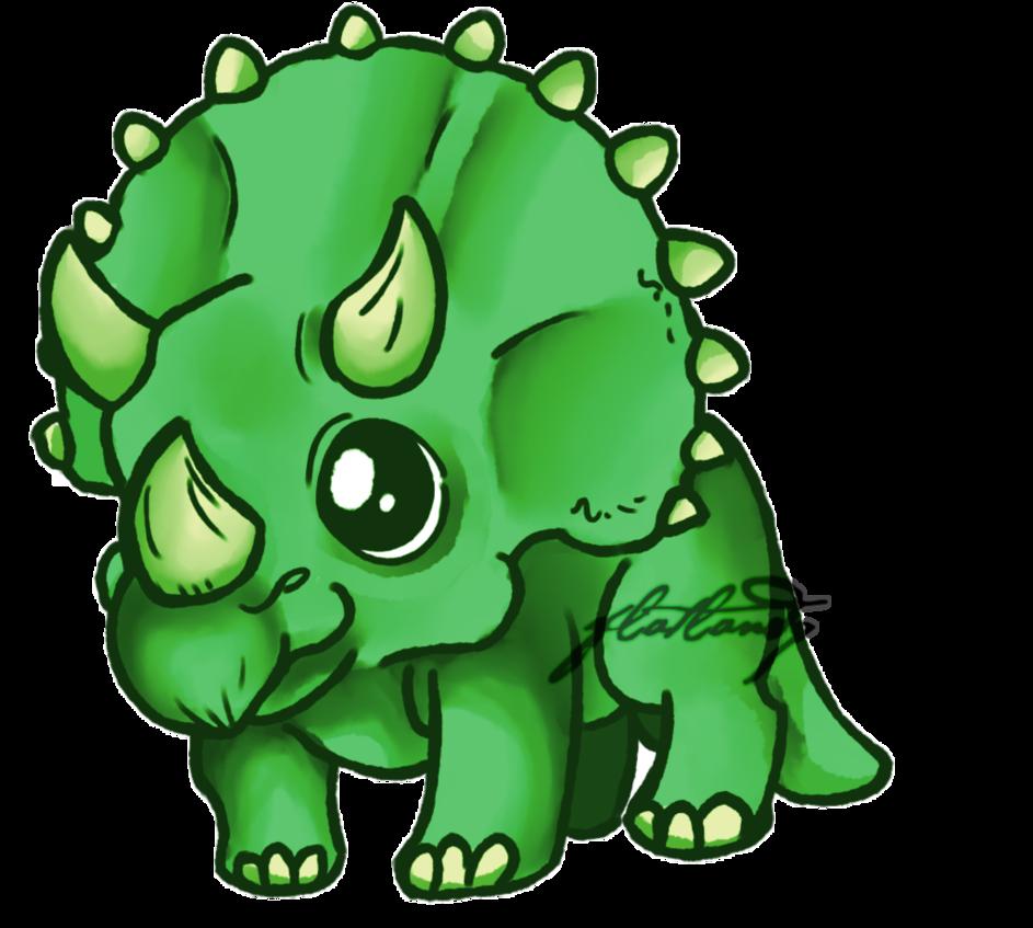 Triceratops Dino Drawing Dinosaur Tattoos Cute Dinosaur