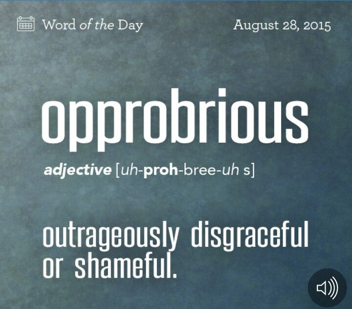 Opprobrious