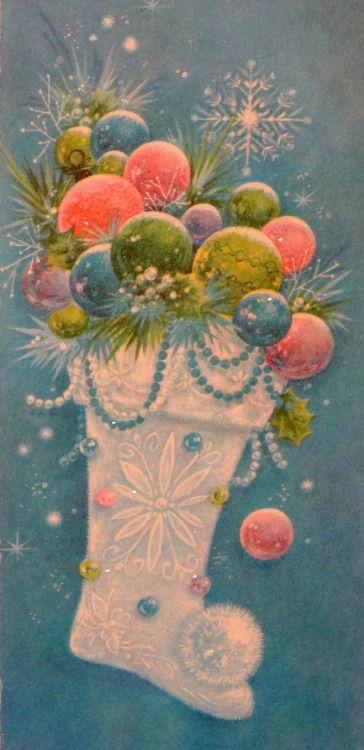 Vintage Holidays Vintage Christmas Card                              …