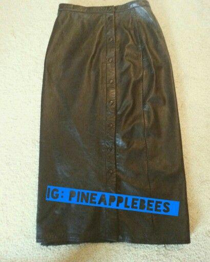 Vintage  Leather Skirt: $25 #pineapplebees
