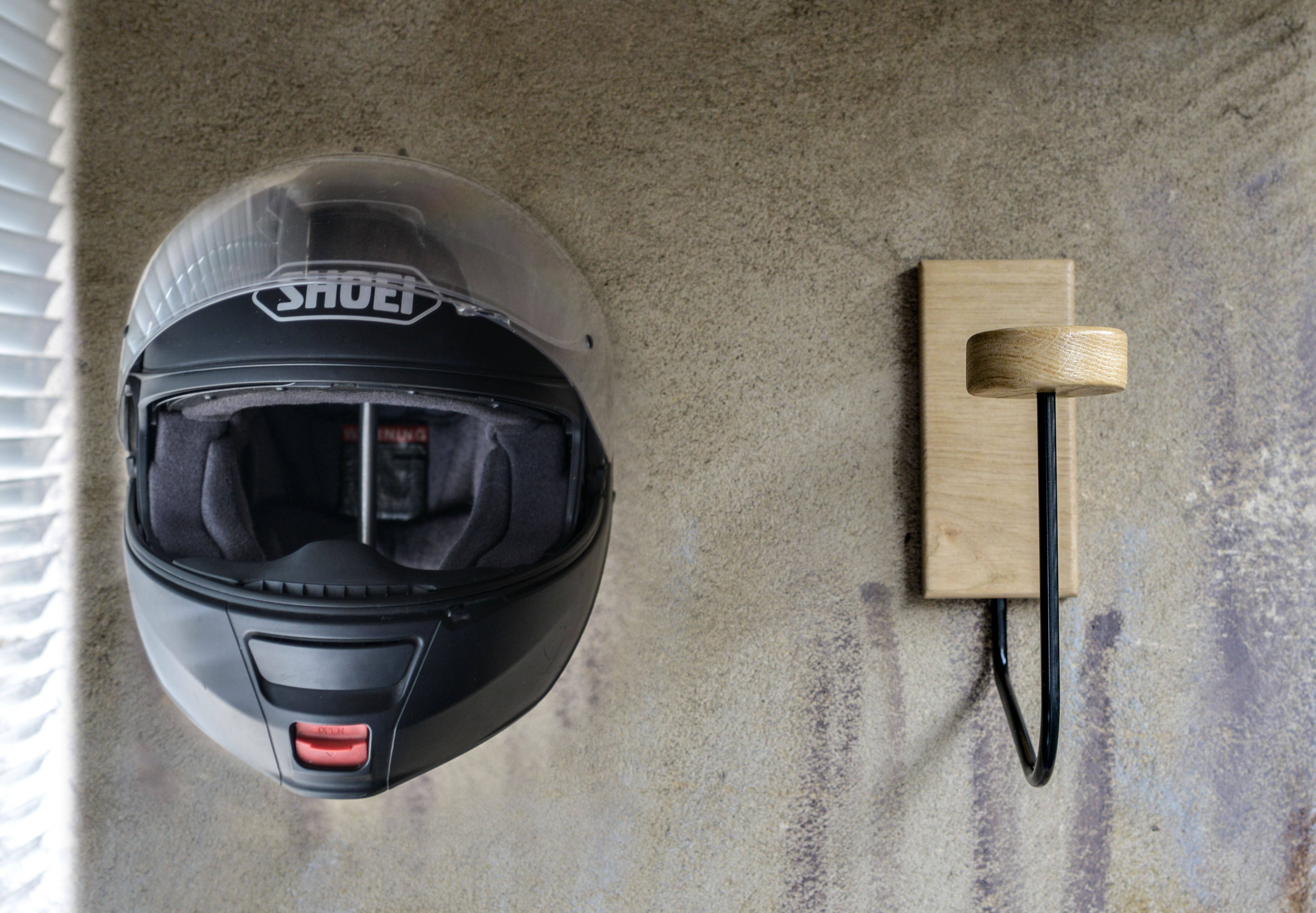 Porte Casque Helmet Rack France Waynscot Motorcycle Helmet Accessoires Decor Interieur Handmade Biker Porte Casque Casque Casque Helmet