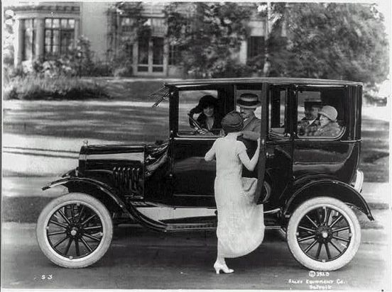Ford Car with passengers   c. 1920