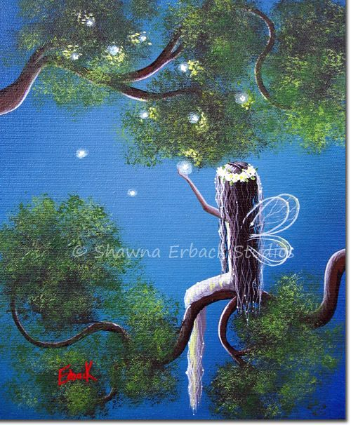 Fairy Painting by Shawna Erback $175  http://www.shawnaerback.com/fairy_painting_1006.html