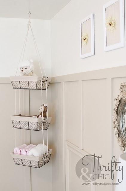 Diy Hanging Storage Baskets Bathroom Basket Storage Hanging