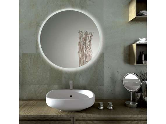 Specchio bagno led tondo sole nel 2019 casa pinterest - Specchio retroilluminato bagno ...