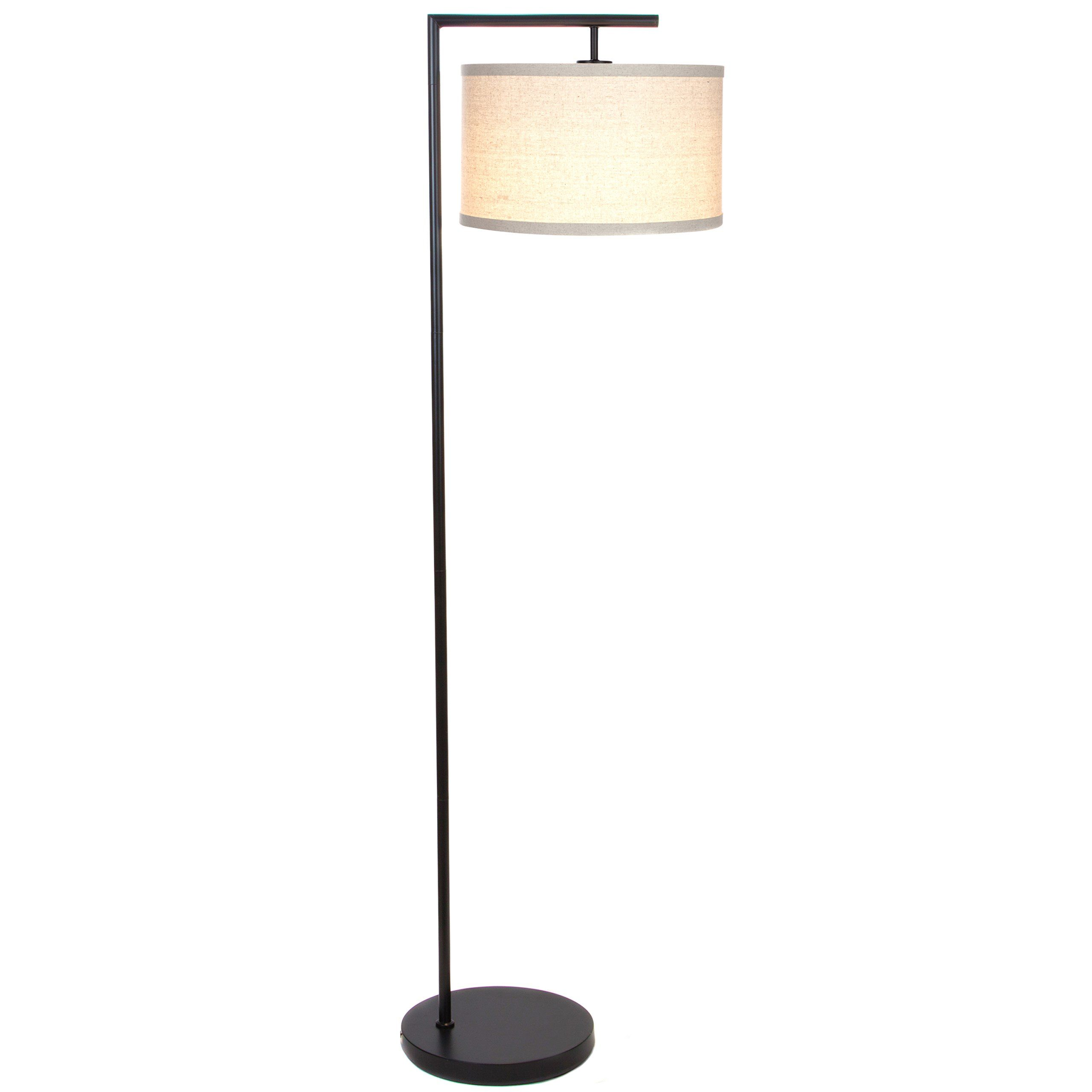 Brightech Montage Modern Led Floor Lamp With Hanging Lamp Shade