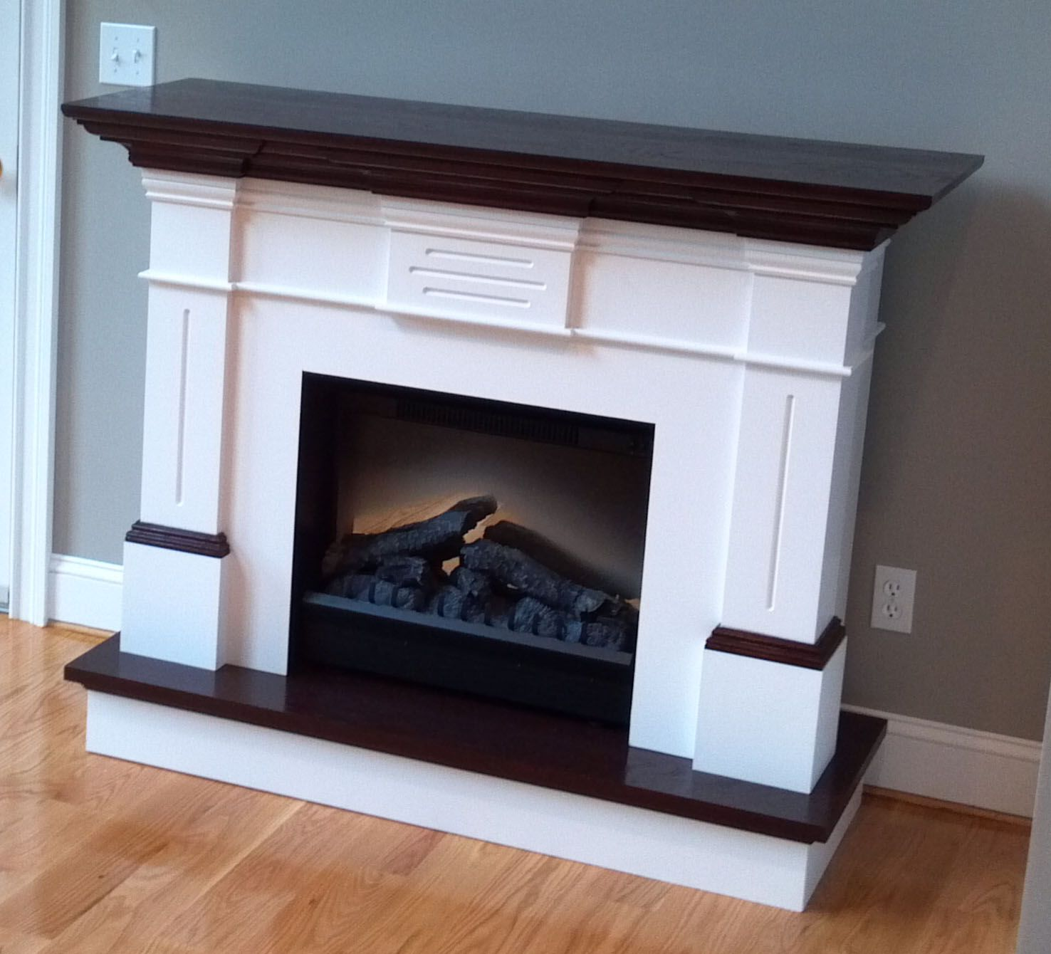 Oak mantel kit