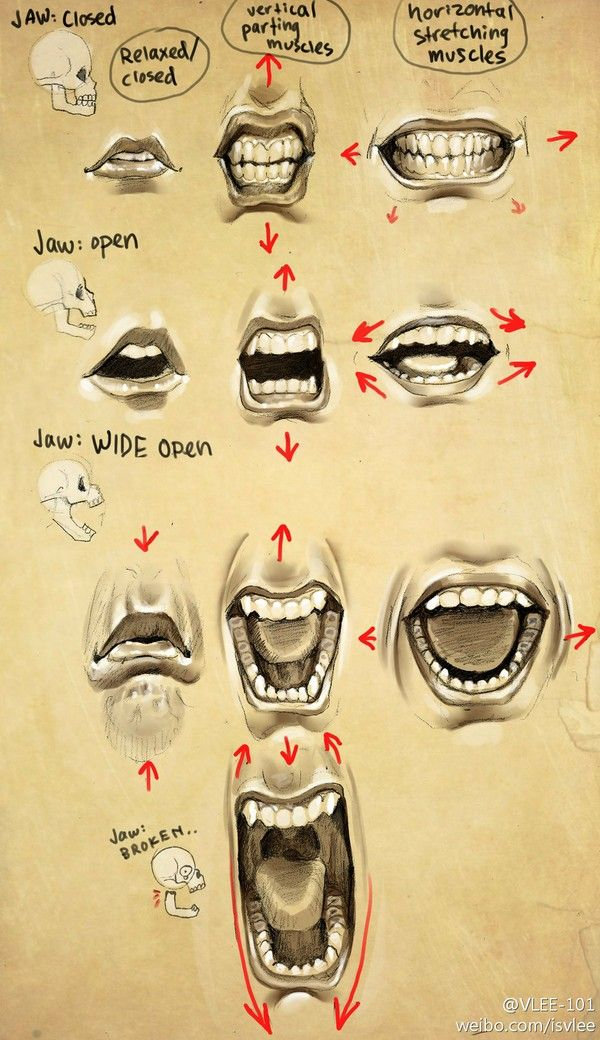 mouth painting reference