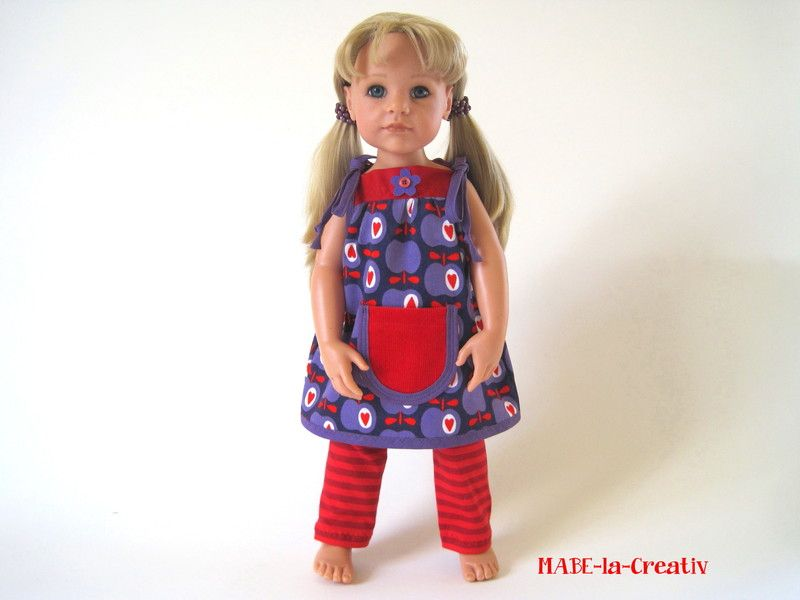 "2 teilg. Set "" Hannah "" Kleid+Leggings lila-rot von © MABE la Creativ - KIDS auf DaWanda.com"