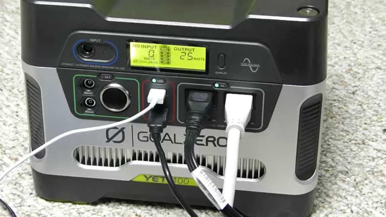 Goal Zero Yeti 400 Unboxing Review Demo Youtube Portable Solar Generator Solar Generator Goal Zero
