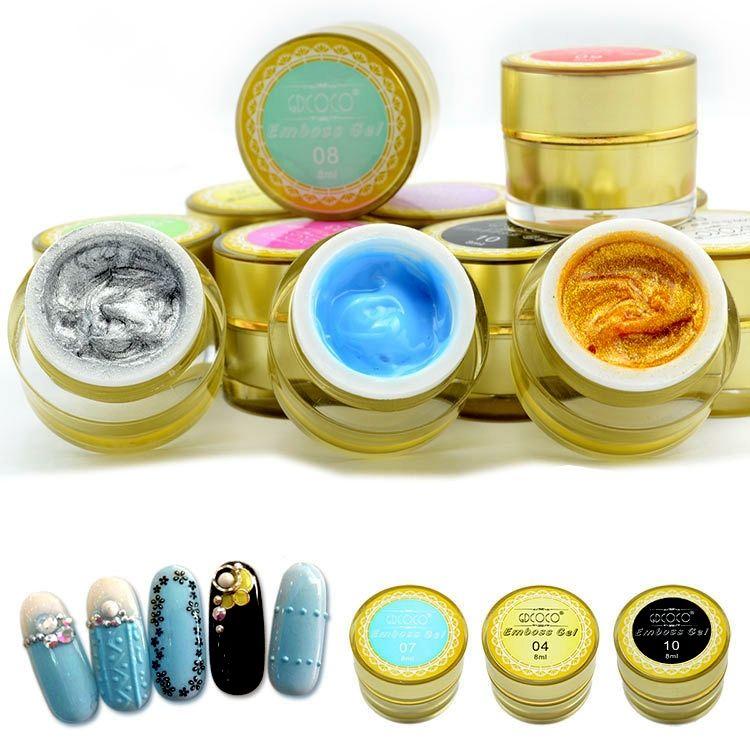 New nail products of 3D emboss gel uv gel,sculpture uv gel 12 color ...