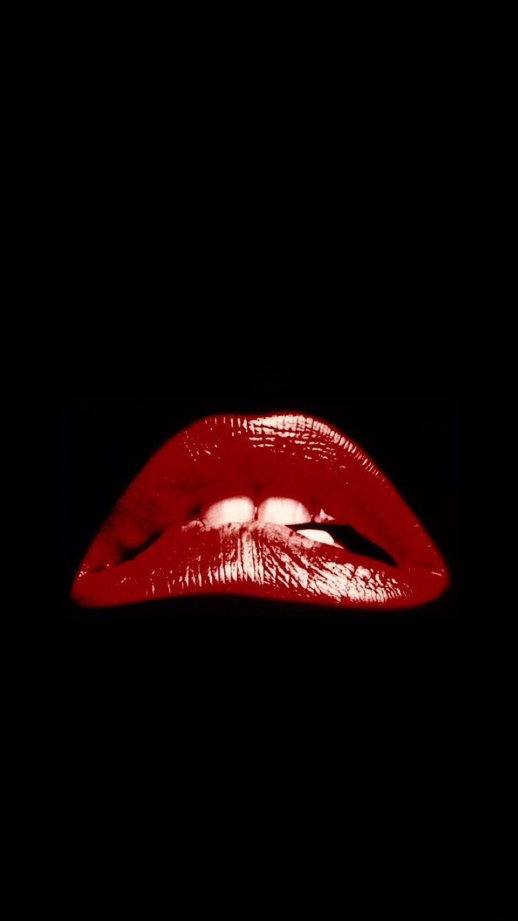 Red Lips Rocky Horror Show Lock Screen 1970s Apple Wallpaper