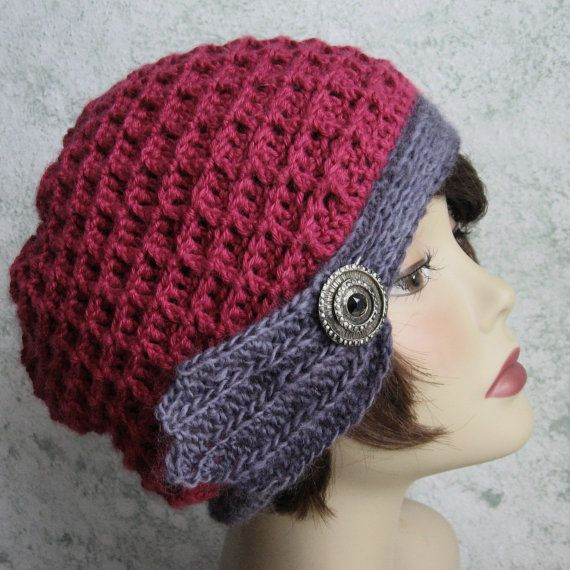 Womens Crochet Hat Pattern Waffle Stitch With Trim Band Instant
