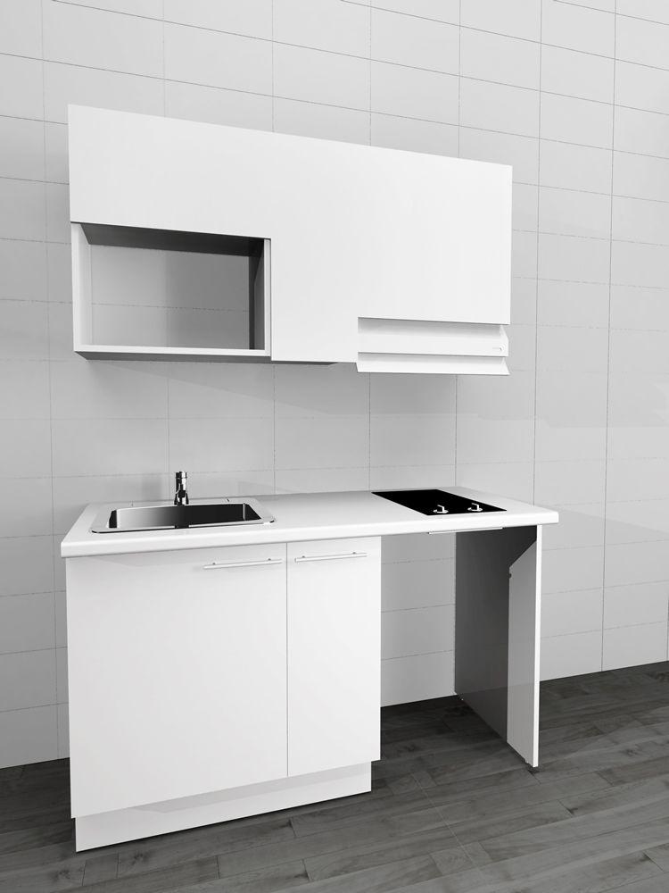 Sibo meuble cuisine kitchenette petite salle de bain en 2019 cocinas espacio et mini - Cuisine kitchenette ...