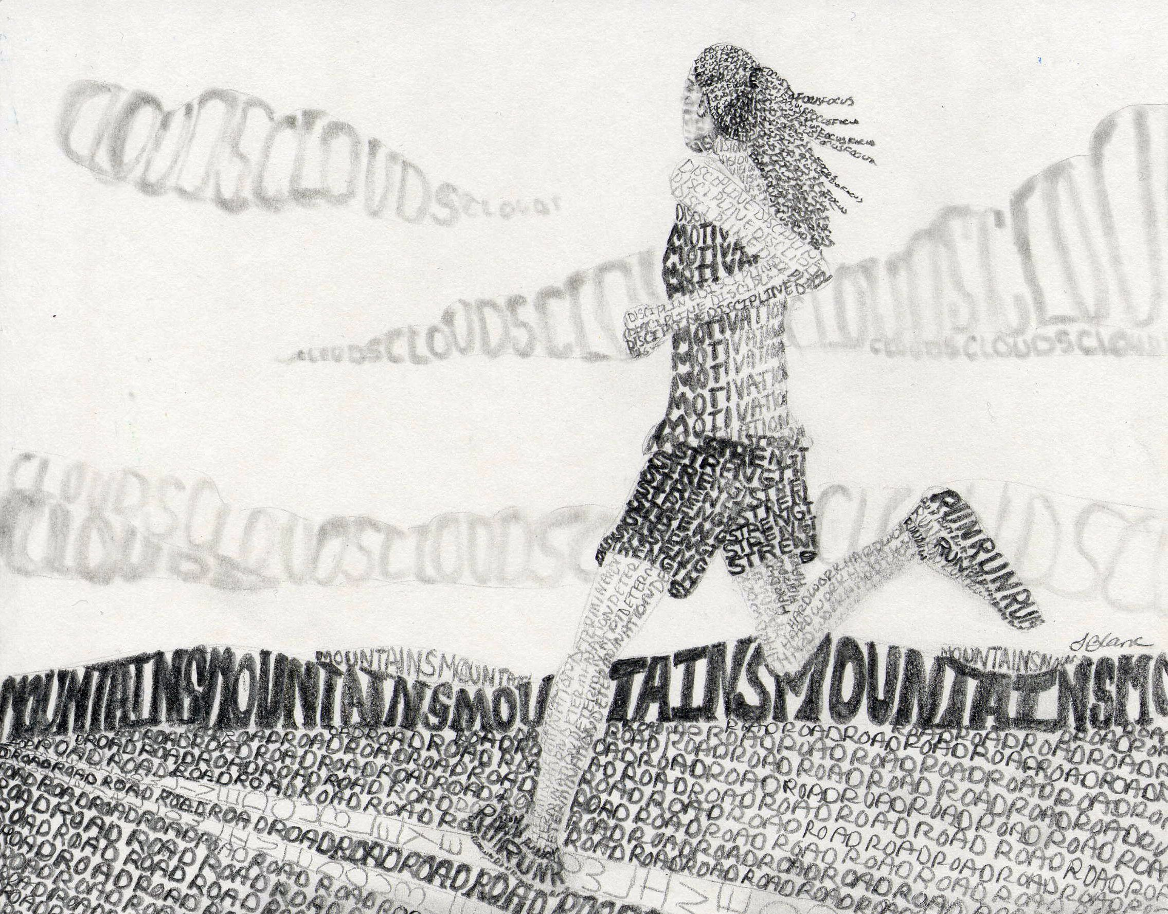 Words As Value Drawing Example For My High School Art Class By Sandy Blanc