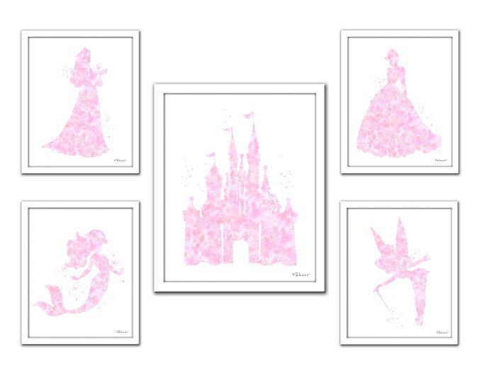 Soft Pink Princess Print Disney Princess Light Pink Princess Set