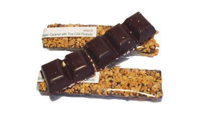 Ginger caramel with Chili Peanuts bar
