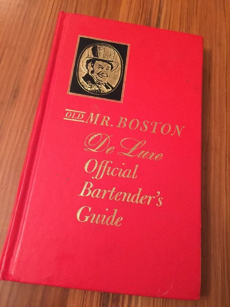 Vintage 1963 OLD MR BOSTON Deluxe Official Bartenders