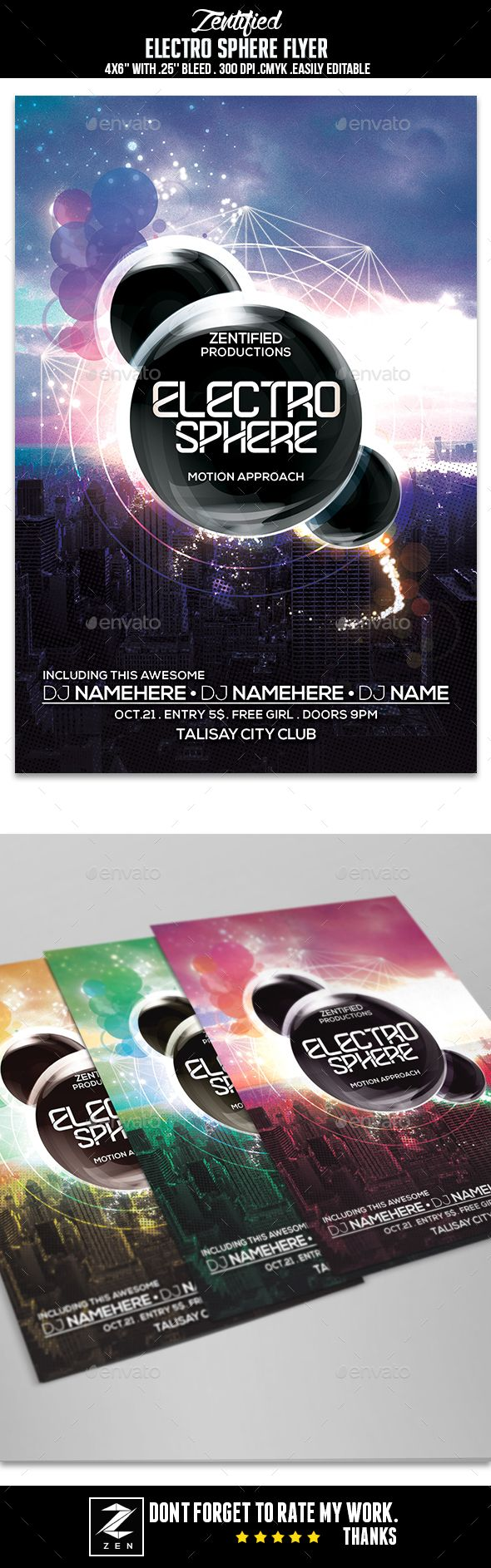 Electro Sphere Flyer Template PSD. Download here: http://graphicriver.net/item/electro-sphere-flyer/15533095?ref=ksioks