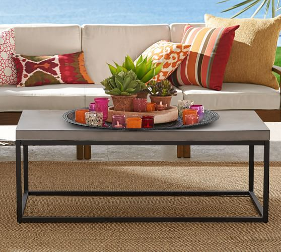 Pottery Barn Sloan Coffee Table Outdoor Spaces Pinterest - Pottery barn metal coffee table
