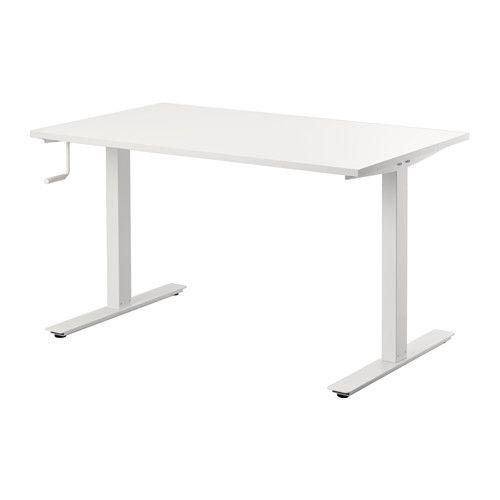ikea skarsta bureau assis debout la hauteur du bureau se regle facilement entre 70 et 120 cm par une simple rotation de la poignee manivelle pour une