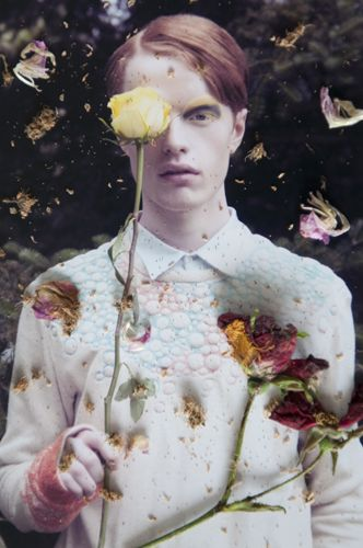 Flower Twins by Flora Deborah for C-heads magazine † #pastel #goth † Photography: Flora Deborah Styling: Olivia Wright Make-up and hair: Michelle Dacillo Photographer's assistant Annelie Saroglou Models: Kaitlyn @ Storm models and Jamie @ M+P models