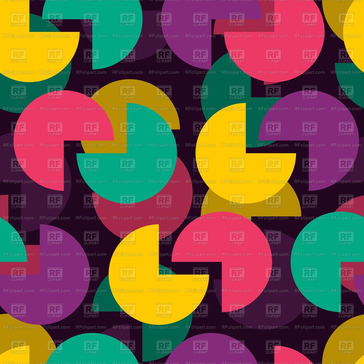Circle color seamless pattern vector image u vector artwork of
