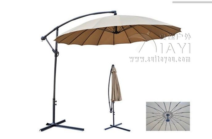 2.7meter 18K Steel Iron Ribs Hanging Patio Sun Umbrella Garden Parasol  Sunshade Outdoor Furniture (