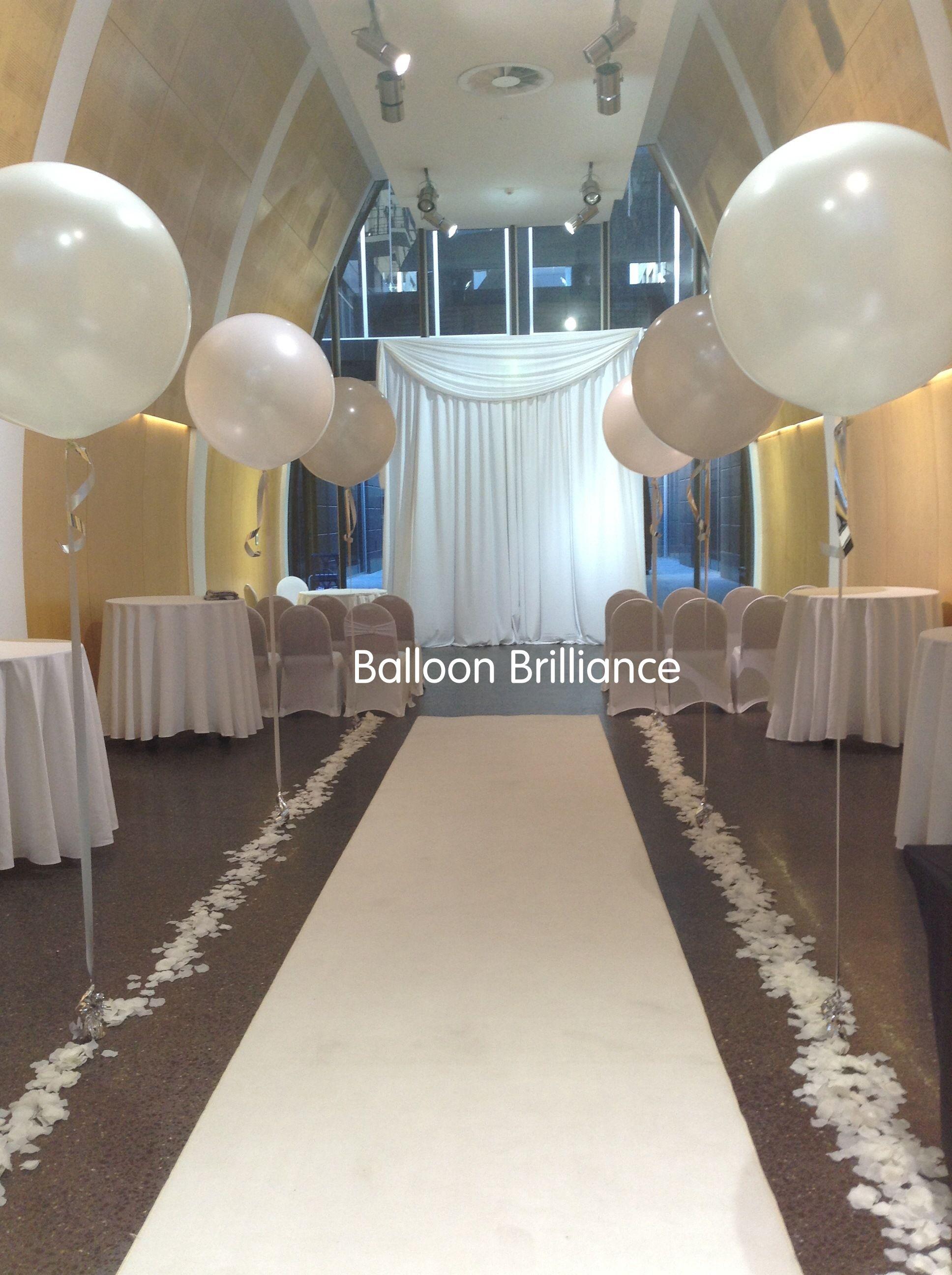 3foot Giant Jumbo Balloons Aisle Wedding Canberra