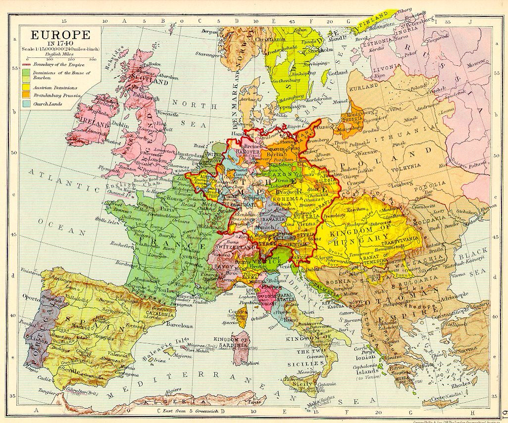 Europe 1740 Historical Maps Map History