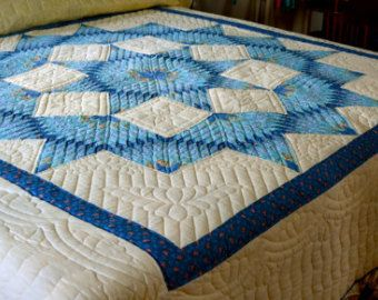 Amish Quilt Giant Dahlia Pattern by QuiltsByAmishSpirit on Etsy ... : amish quilting patterns - Adamdwight.com