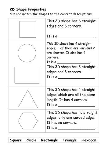 2D Shape Properties.doc | Measurement | Pinterest | 2d shape ...