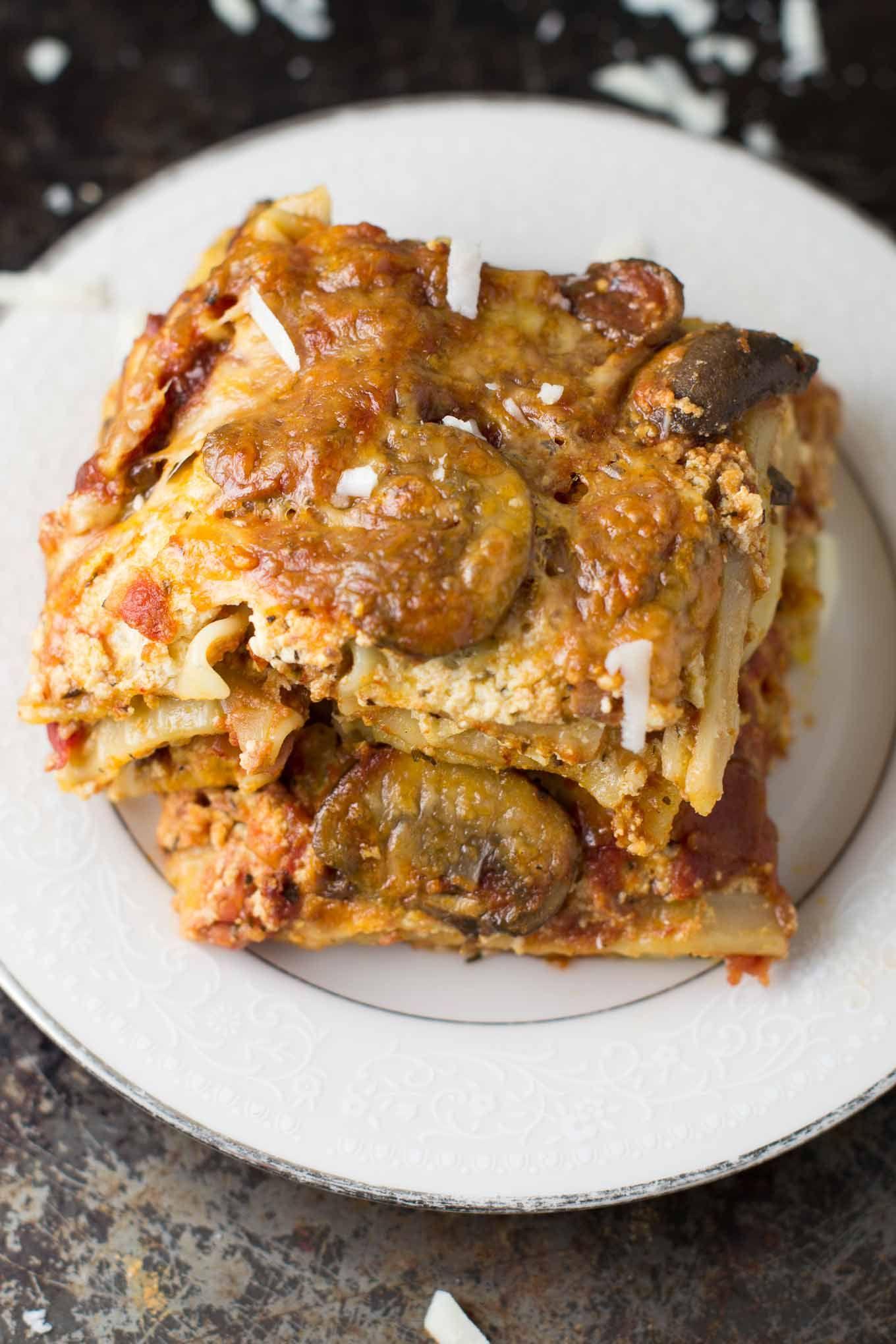 Best Ever Mushroom Lasagna Recipe Layers Of Juicy Mushrooms