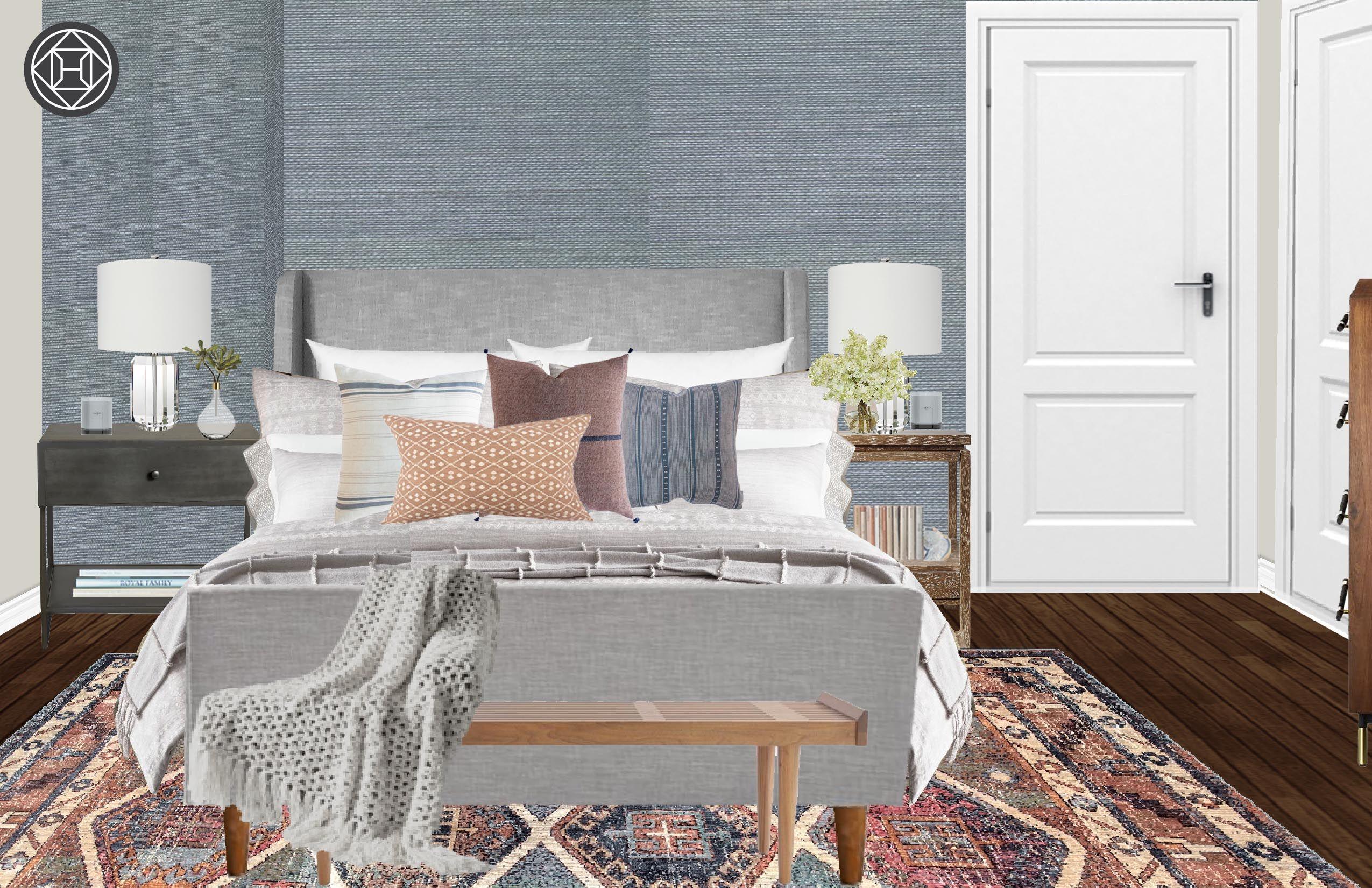 Bohemian Industrial Global Bedroom Design By Havenly Interior