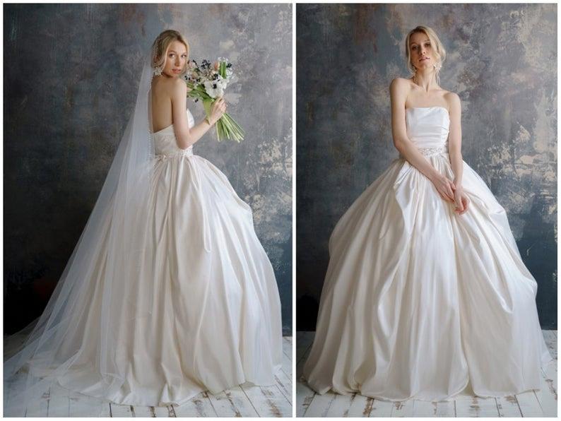 MALIDA / Taft Brautkleid Quinceanera Brautkleid | Etsy #weddingdressesc …